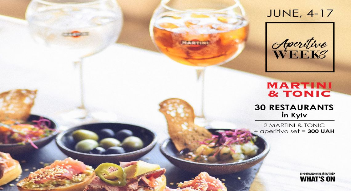 Aperitivo Weeks in Kyiv: Delicacies for Fixed Price