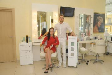 Hair treatment in DESSANGE beauty salon