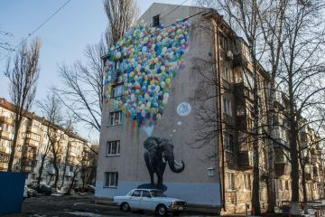 Murals on the streets of Kiev