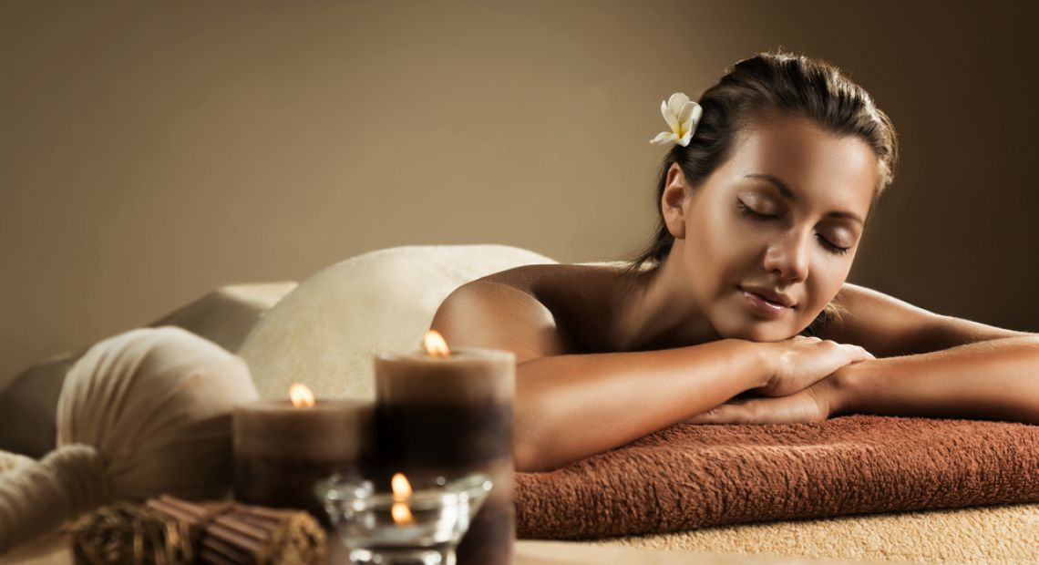 woman relaxing after massage