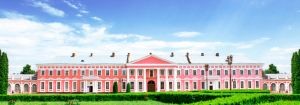 palace in tulchyn surrounded by greenery