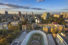 kyiv city panoramic view from above