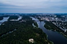 Attractions in Hydro Park in Kyiv