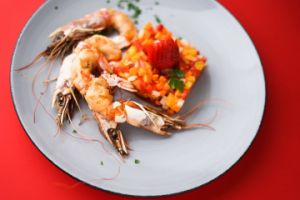 shrimps served with side dish