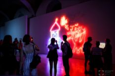 Neon art on Instant Time exhibition in Kyiv