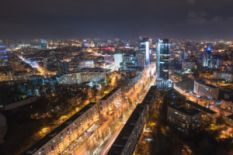 Night Kyiv panorama