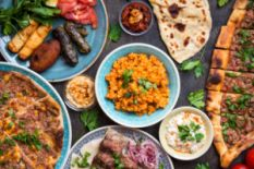 Assortment of Turkish cuisine dishes