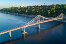 Bridge over Dnipro in Kyiv
