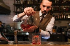 Barman making a coctail