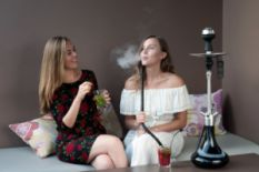 Girls enjoying hookah