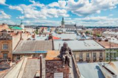 Lviv panorama from the House of Legends rooftop
