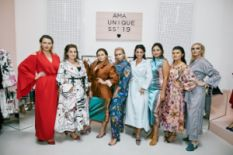 Plus-size models posing for AMA SS19 collection