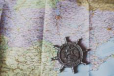 Map of Ukraine and a magnet from Odesa