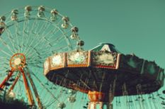 ferriswheel and merry-go-round