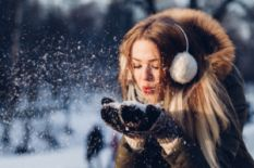 Girl and the snow