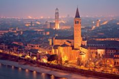 Panorama of Verona city