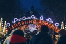 Christmas market in Lviv