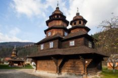 Ukrainian wooden church in Yaremche