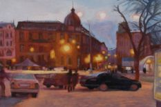 painting of evening lviv