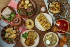 Ukrainian dishes on the table