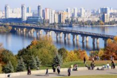 Dnipro view in Kyiv