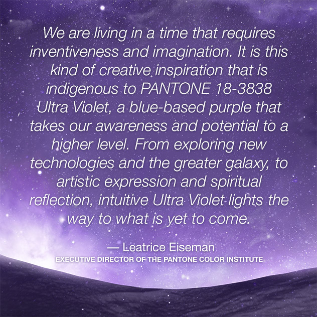 pantone color of the year 2018 ultra violet lee eiseman quote