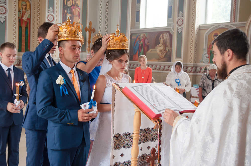 Traditional wedding in a church