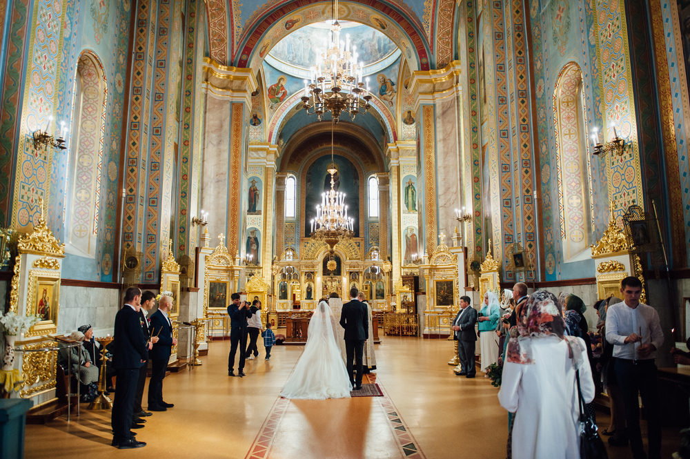 Wedding in an Orthodox church