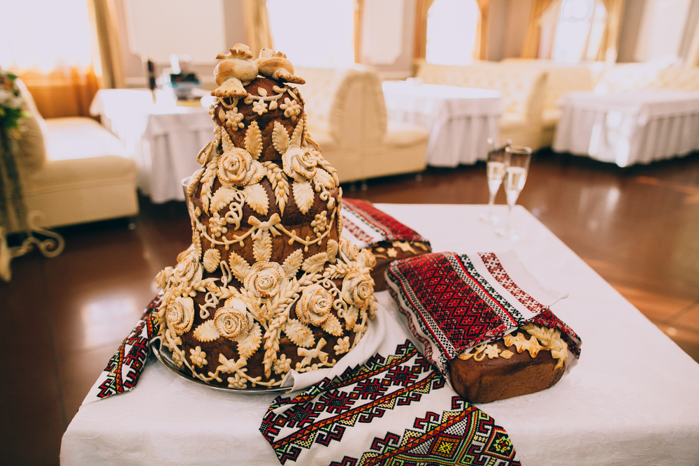 Traditional Ukrainian wedding cake