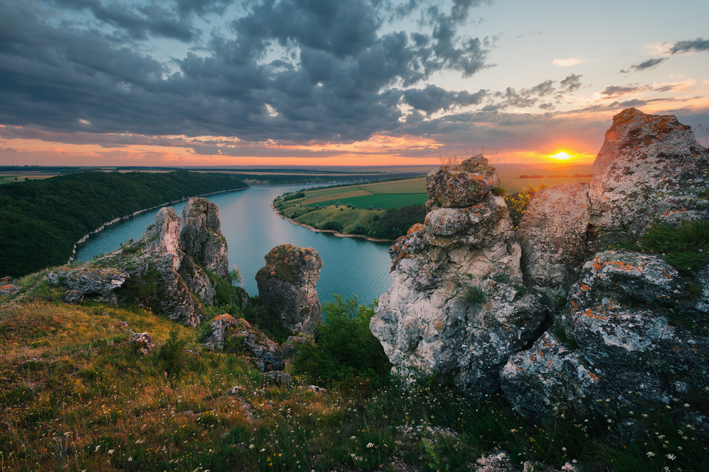 Beautiful views of Dniester Canyon