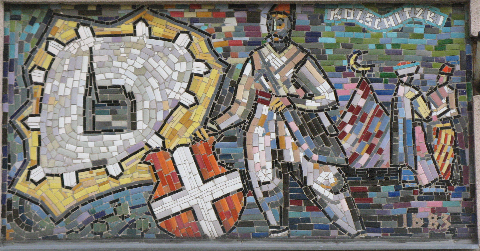 Mosaic with cossack