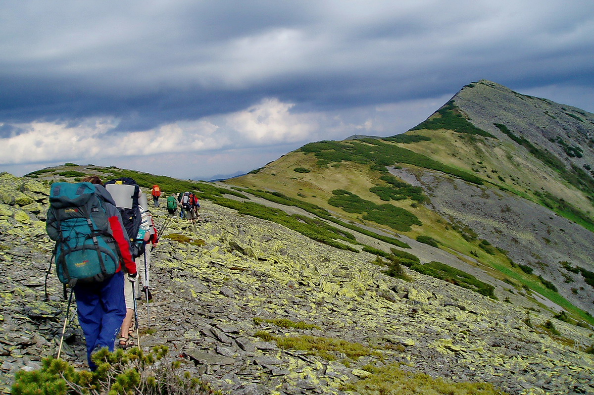 Hikers in the Carpathians