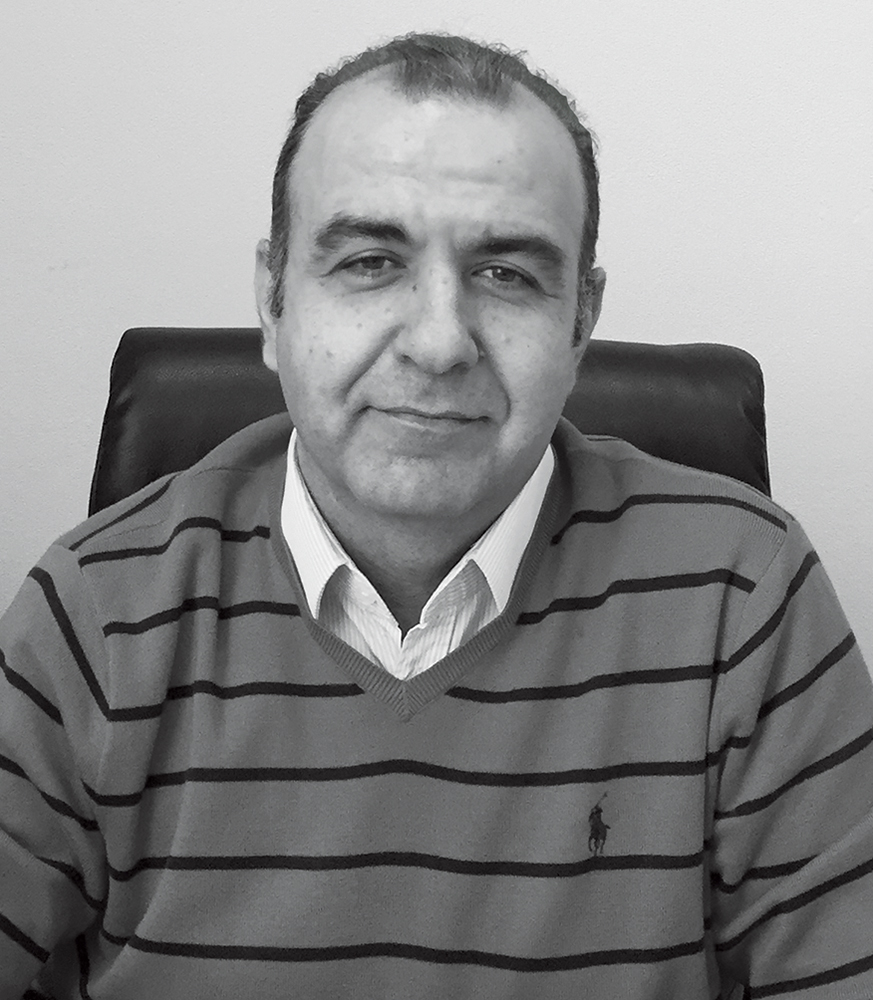 black and white photo of Turgay Bingol