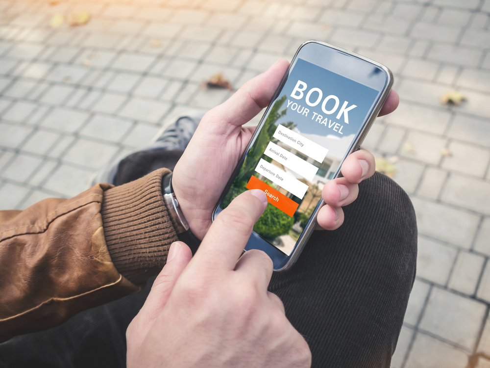 booking journey by mobile app