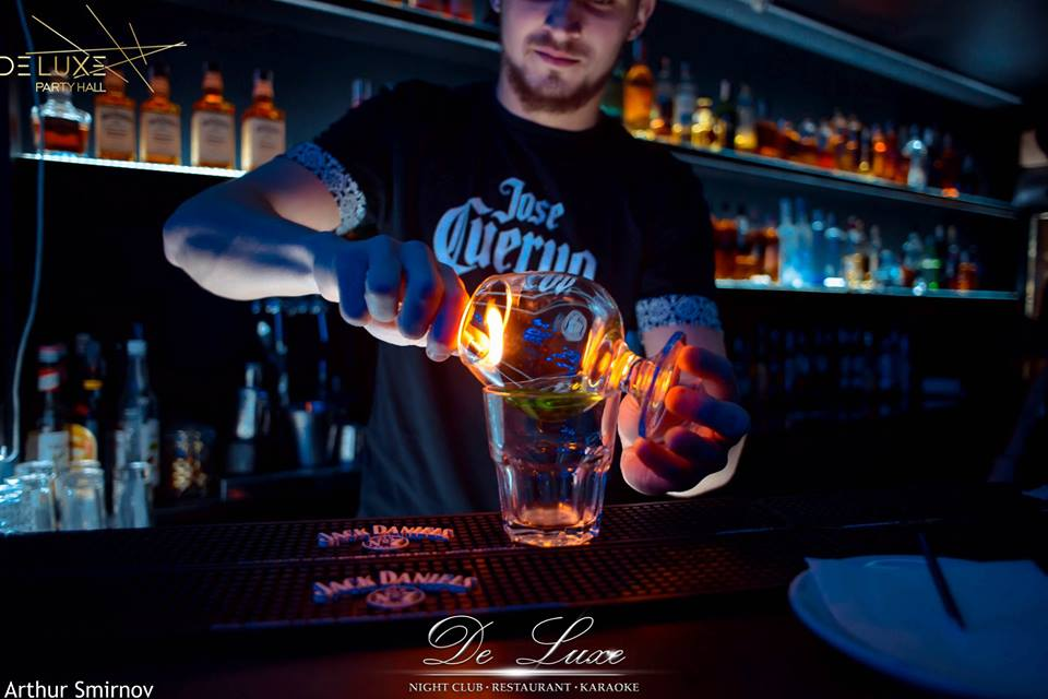 bartender making cocktail