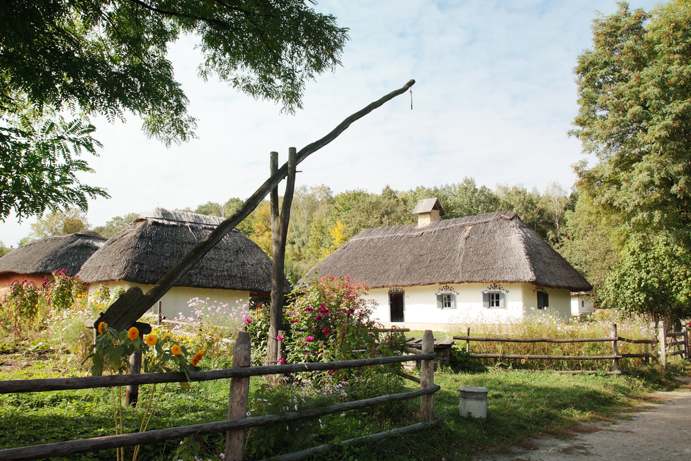 Ukrainian traditional village