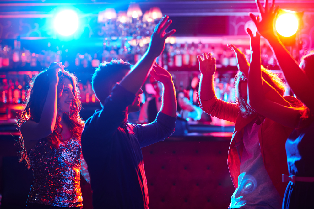 People partying in Odesa club