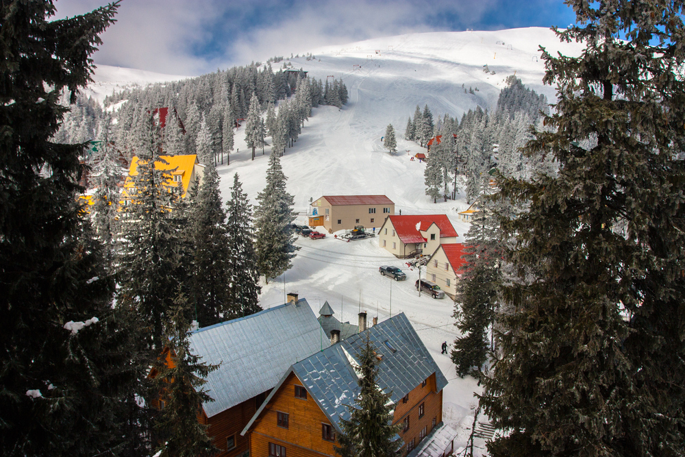 skiing in bukovel