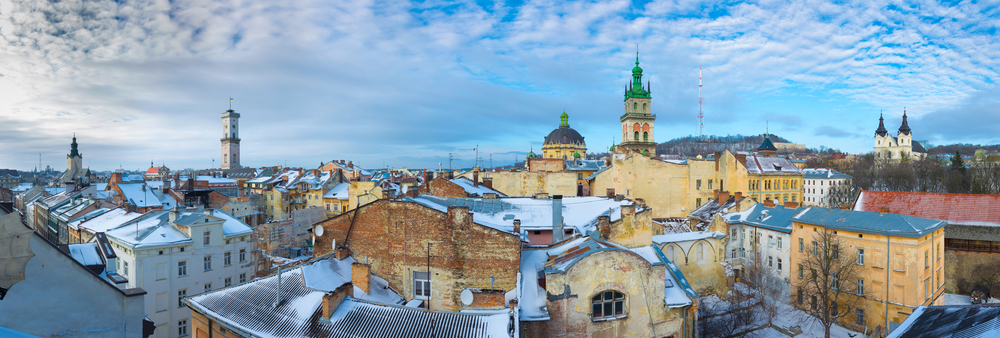 Lviv in winter