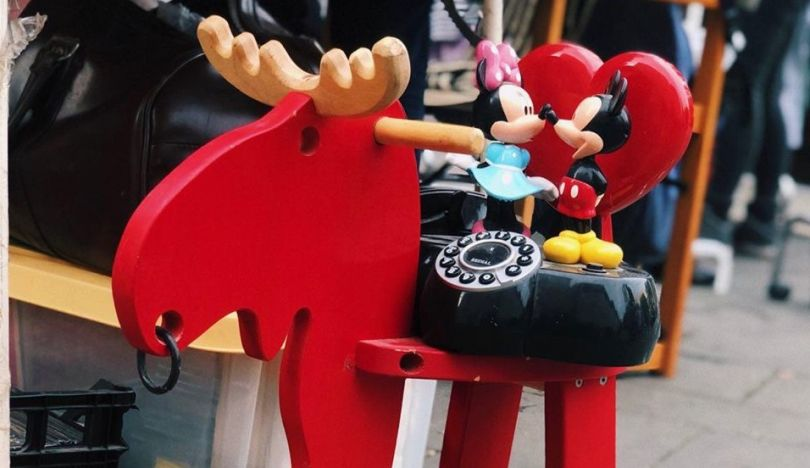 toy cartoon characters on toy moose
