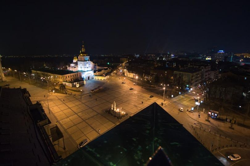View of Sofiiska Square from b-hush bar