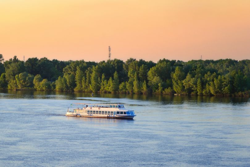 Boat on Dnipro