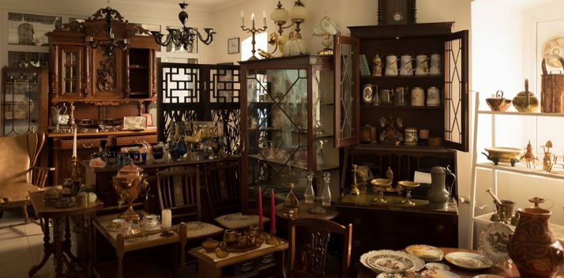 Antique furniture and decor