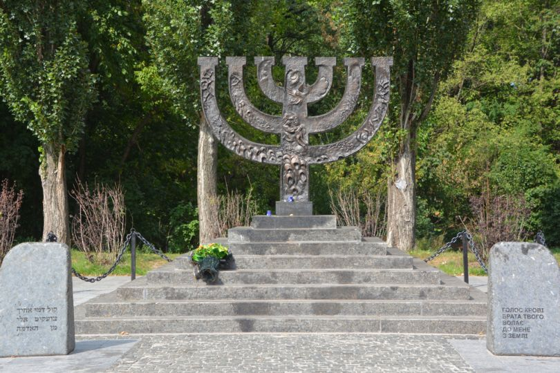 Menorah in Babi Yar in Kyiv