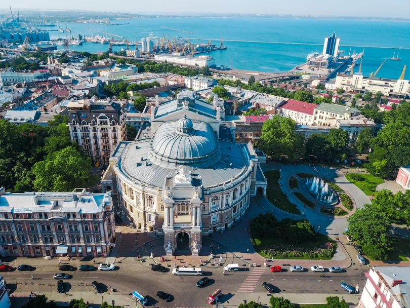 Odesa aerial view