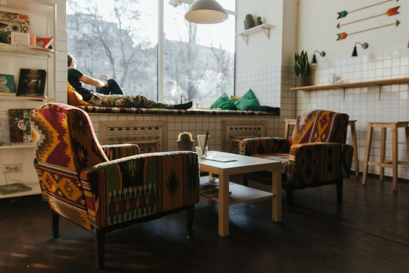 Cozy coffeshop in Kyiv