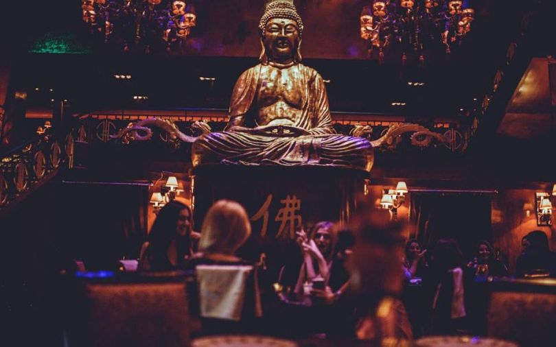 Buddha statue at Buddha-bar in Kyiv