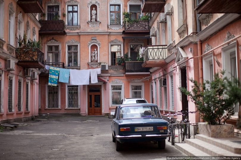 Typical Odesa courtyard