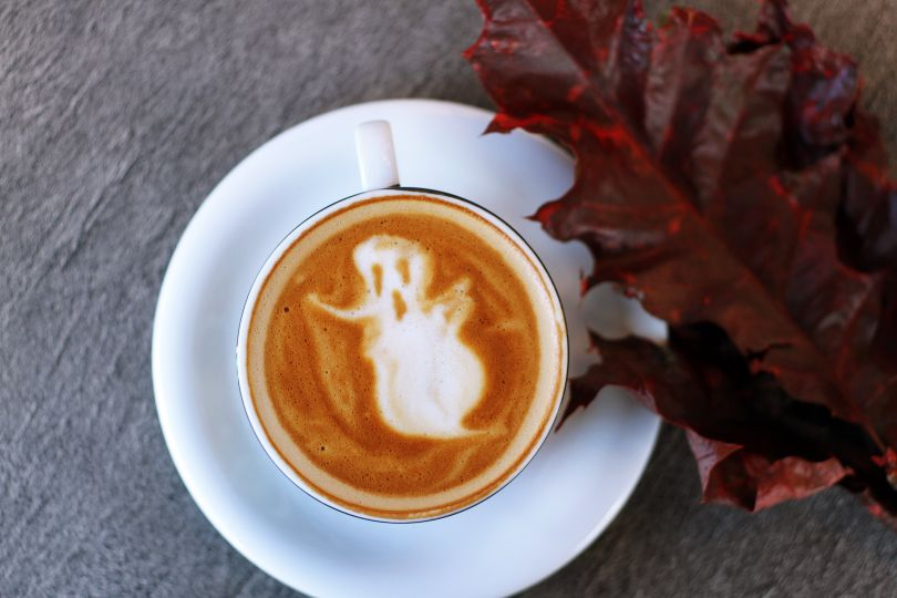 Spooky ghost coffee