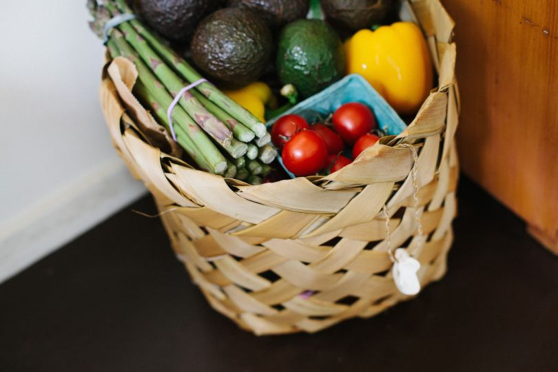 Basket full of veggies